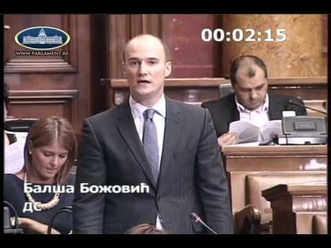 Балша Божовић - питање Министарству грађевинарства, саобраћаја и инфраструктуре