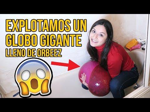 Videos caseros - LLENAMOS UN GLOBO GIGANTE DE ORBEEZ