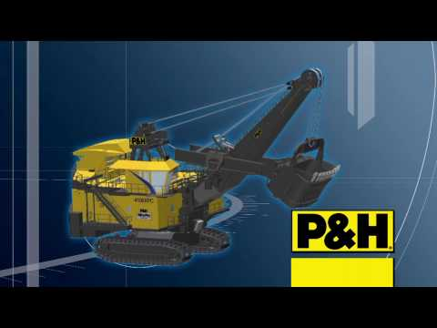 p&h - How is an AC drive P&H 4100XPC electric mining shovel set up to efficiently gather up 120-ton dipper loads of material for precision placement within the wai...