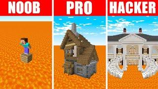 Minecraft NOOB vs. PRO vs. HACKER : FLOOR IS LAVA CHALLENGE in Minecraft!