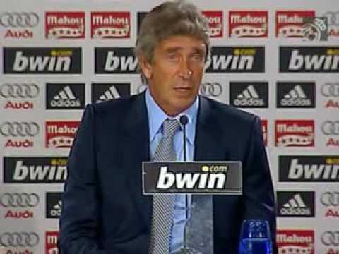 Presentación de Pellegrini como entrenador de Real Madrid