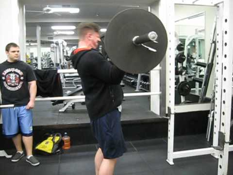 135lb Barbell Curl for reps