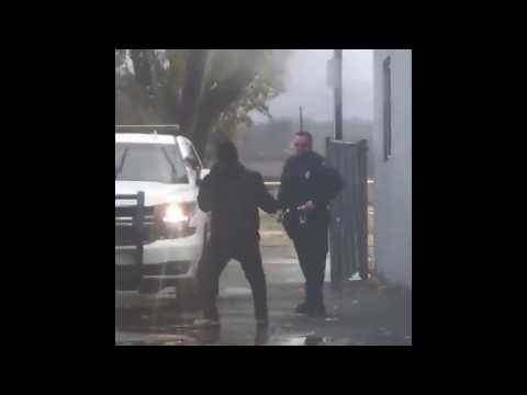 Sucker punch a cop that doesn't have backup  Let's see what happens