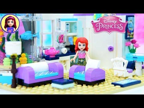 Ariel's Beachfront Apartment - Modern Day Princess Build Lego DIY Miniature Dollhouse Part 1