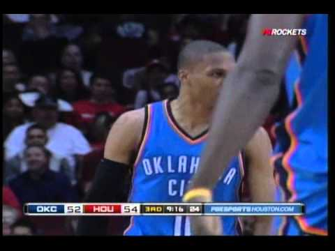 Russell Westbrook dunk vs Rockets - Houston broadcast