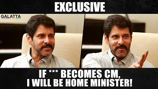 Video Exclusive | If *** becomes CM, I will be Home Minister! Chiyaan Vikram | Galatta With Aruna MP3, 3GP, MP4, WEBM, AVI, FLV Maret 2018