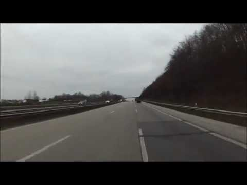 Driving to Ramstein AFB, Germany.