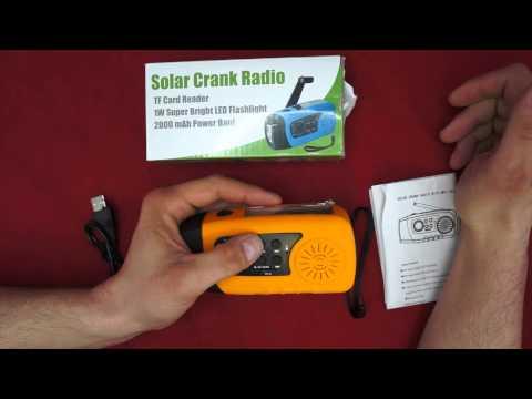 Mightyhand Emergency Solar Hand Crank FM Radio, MP3 Player, Flashlight, & Cell Phone Charger