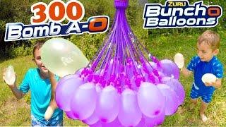 Video BATAILLE DE BOMBES À EAU ! - 300 bombes à eau en 60 secondes avec Bomb A-O Bunch O Balloons! MP3, 3GP, MP4, WEBM, AVI, FLV September 2017