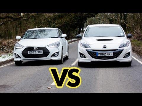 battaglia epica: mazda3 mps vs hyundai veloster turbo!