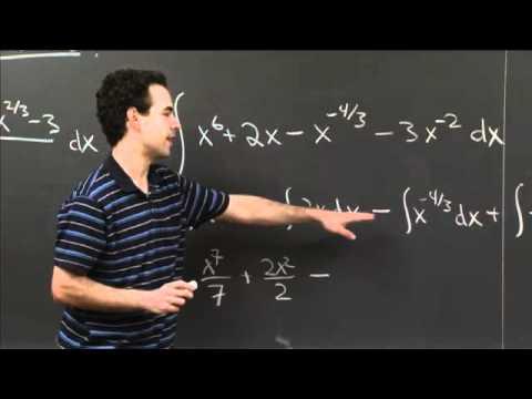 Computing Antiderivatives   MIT 18.01SC Single Variable Calculus, Fall 2010