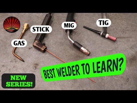 Introduction and the pros and cons of Gas, Stick, MIG, and TIG welders. How to become a WELDER! Ep1