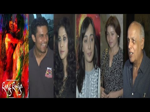 Randeep Hooda,Mahesh Bhatt,Sunidhi Chauhan At Screening Of Movie Rang Rashiya