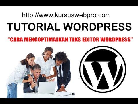 Cara Menggunakan Text Editor untuk Pembuatan Konten WordPress