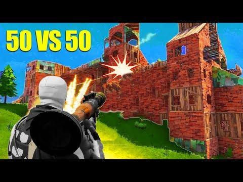 The BIGGEST 50 v 50 Fight! *NEW* Fortnite GameMode!