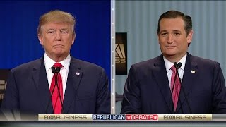Donald Trump and Ted Cruz Clash at the Fox Business GOP Debate