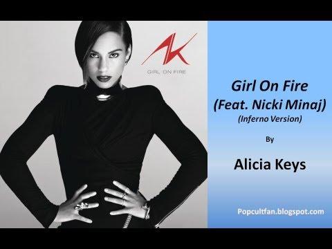 Alicia Keys - Girl On Fire (Feat. Nicki Minaj) (Inferno Version) (Lyrics)