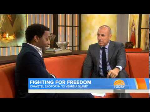 Chiwetel - The actor talks to TODAY's Matt Lauer about his experience playing the role of Solomon Northop, a free man who was kidnapped and sold into slavery in the 19t...