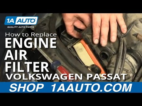 How To Install Replace Engine Air Filter Volkswagen Passat 02-05 1AAuto.com