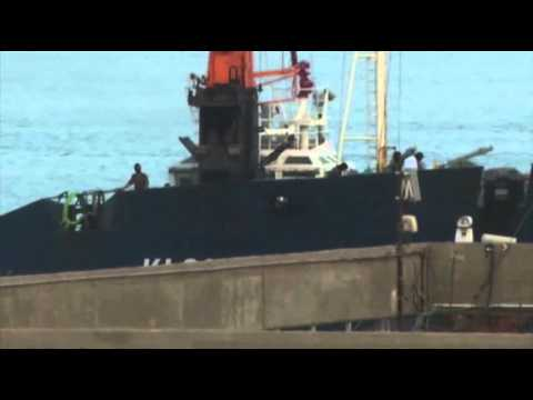 port - A captured ship that Israel says carried advanced rockets bound for fighters in the Gaza Strip arrived at the southern port of Eilat on Saturday. Officials i...