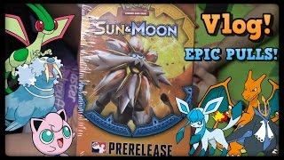 Sun and Moon Prerelease Vlog! 2 Prerelease Kits! by Master Jigglypuff and Friends