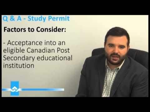 Canadian Study Permit FAQ Video