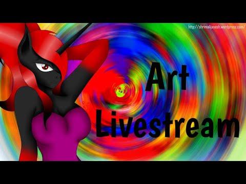 Finishing Up Ship Art - Art Livestream