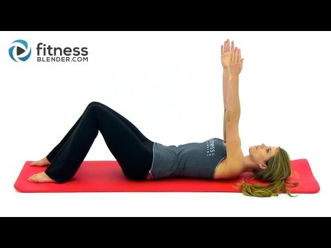Fitness Blender's Low Impact Beginner Pilates Workout – Great Post Pregnancy Workout for New Mothers