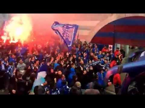 Video - Recibimiento de la mejor afición de Euskadi al Deportivo Alaves en Eibar 25-5-2014. - Iraultza 1921 - Alavés - España - Europa