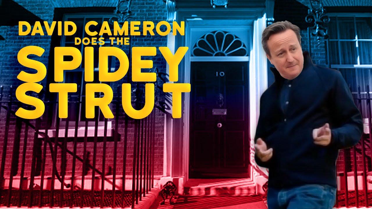 David Cameron does the « Spidey Strut »