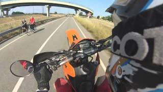 8. Test Ktm Sxc 625 [acceleration and wheelie] @ARLUNO