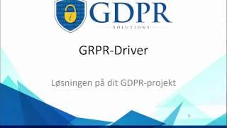 GDPR-solutions -præsentation