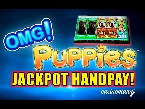 *JACKPOT HANDPAY* - OMG! PUPPIES™ SLOT - NEW SLOT! - MAX BET! - MEGA HUGE Slot Machine Bonus