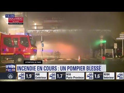 Violent incendie: 3 pompiers blessés et 250 personnes évacués
