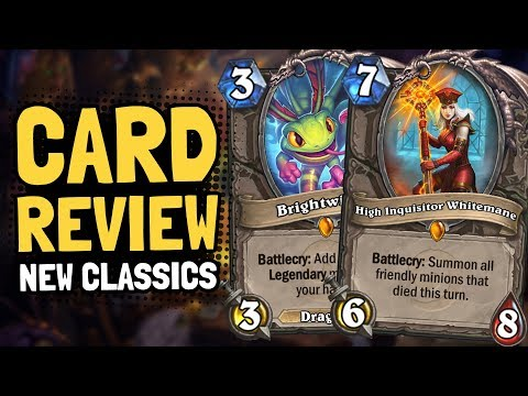 Review of NEW CLASSIC CARDS! Brightwing & Whitemane & More! | Hearthstone