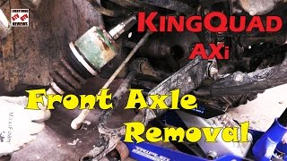 5. SUZUKI KINGQUAD AXi 450 500 700 750 - HOW TO REMOVE-CHANGE FRONT AXLE