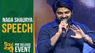Video Hero Naga Shaurya Speech @ Kirrak Party Pre Release Event MP3, 3GP, MP4, WEBM, AVI, FLV Maret 2018