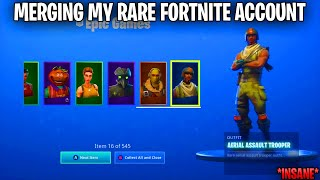 I Merged My Account on Fortnite With A Aerial Assault Trooper account! *5 REFUNDS*