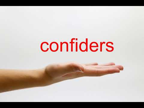 How to Pronounce confiders - American English