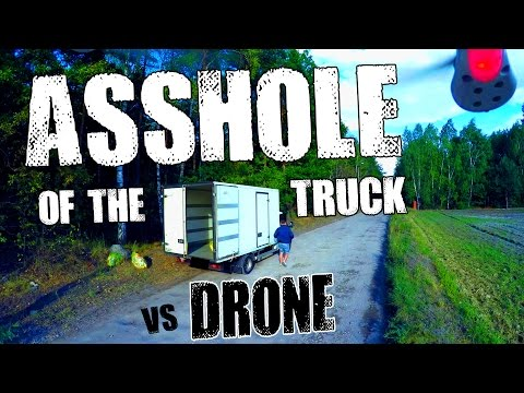 Guy uses drone with loud speaker to prevent illegal trash dumping in the forest