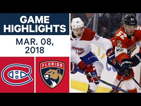 Video: NHL Game Highlights | Canadiens vs. Panthers - Mar. 08, 2018