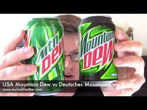 USA Mountain Dew vs Deutsches Mountain Dew (видео)