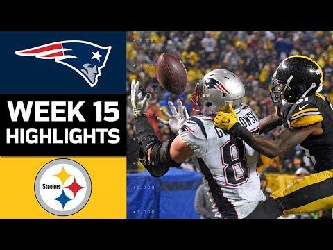 Patriots vs. Steelers   NFL Week 15 Game Highlights