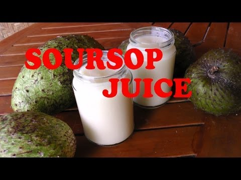 Soursop Juice Raw healthy drink to help cure desises like cancer and rheumatism