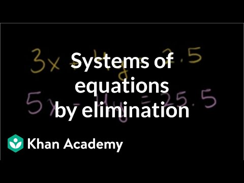 Solving systems of equations by elimination | Algebra Basics | Khan Academy