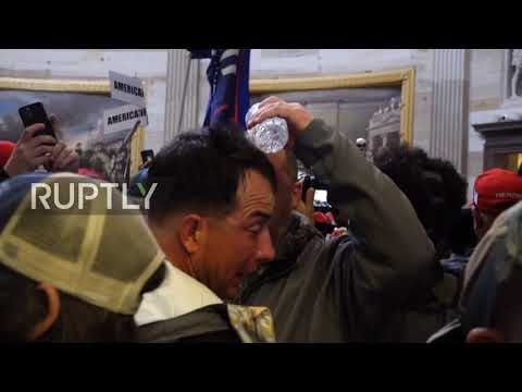 USA: Trump supporters and law enforcement clash inside DC Capitol after storming