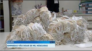 Empresas de Bauru vão doar 25 mil máscaras
