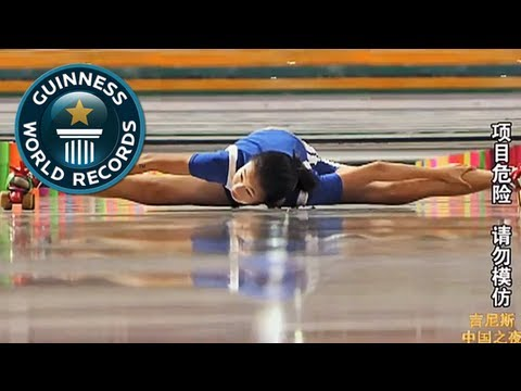 Fastest time to limbo skate over 50 m - Schnellstes Limbo Skaten!-- GWR Video of the Week 25th Jan
