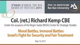 Video Israel's Fight for Security and Fair Treatment - Col. Richard Kemp CBE MP3, 3GP, MP4, WEBM, AVI, FLV Juli 2018