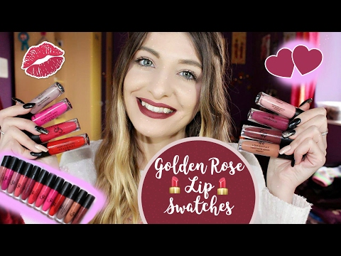 Video ♡ Golden Rose Liquid Lipsticks Lip Swatches | Ladymakeup.eu | 10% Discount Code download in MP3, 3GP, MP4, WEBM, AVI, FLV January 2017
